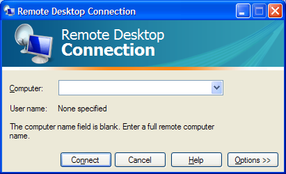 setting up a remote desktop connection